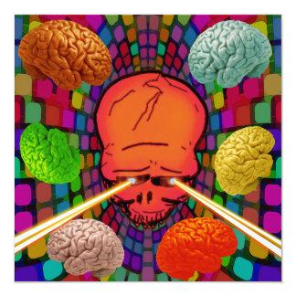 Skull Psychedelic Card