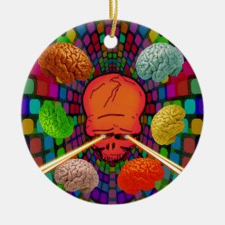 Skull Psychedelic Ceramic Ornament