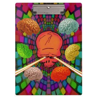 Skull Psychedelic Clipboard