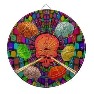 Skull Psychedelic Dartboard