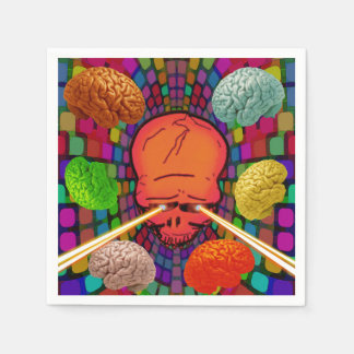 Skull Psychedelic Disposable Napkins