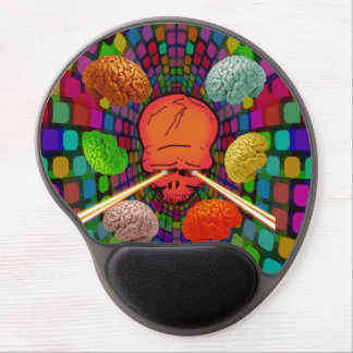 Skull Psychedelic Gel Mouse Pad