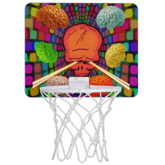 Skull Psychedelic Mini Basketball Hoop