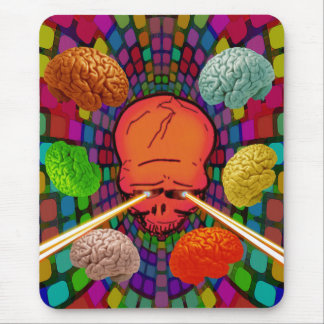 Skull Psychedelic Mouse Pad