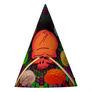 Skull Psychedelic Party Hat