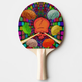 Skull Psychedelic Ping Pong Paddle