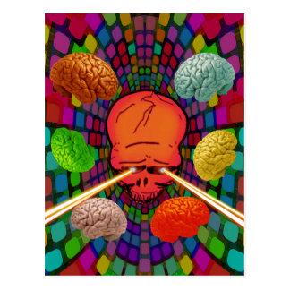 Skull Psychedelic Postcard