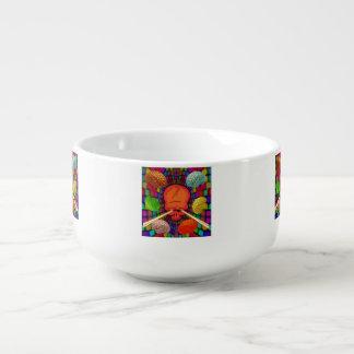 Skull Psychedelic Soup Mug
