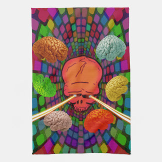 Skull Psychedelic Tea Towel