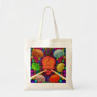 Skull Psychedelic Tote Bag