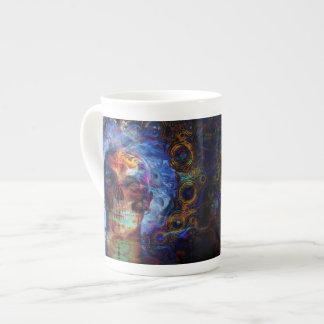 Skull psychodelicart tea cup
