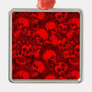 skull punk metal ornament