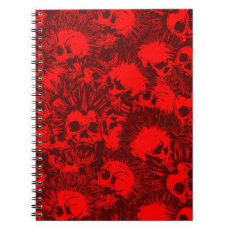 skull punk notebook
