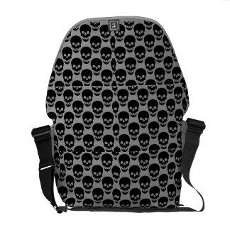 skull purse courier bag
