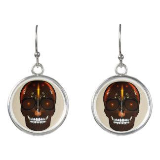 Skull Rarrings - Music Skull Design Earrings