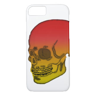 Skull red and yellow iPhone 8/7 case