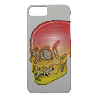 Skull red and yellow Silver! iPhone 8/7 Case