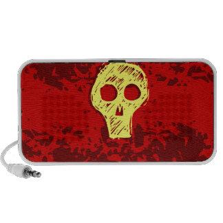 Skull Red Doodle Speaker System
