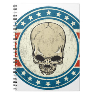 SKULL-RIBBON NOTEBOOK