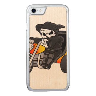 skull ride a big tricycle carved iPhone 8/7 case