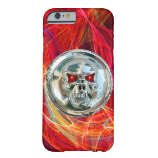 SKULL RIDERS ,Red Yellow Orange Fractal Swirls Barely There iPhone 6 Case