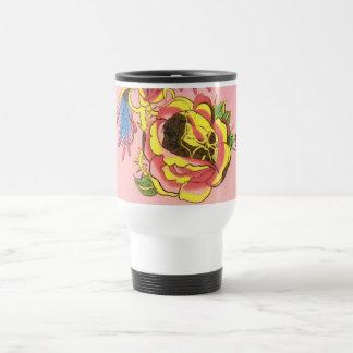 Skull Rose Tattoo Design Travel Mug Personalize