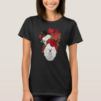Skull Roses Bride and Groom T-Shirt