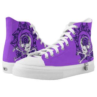 Skull & Roses Hi Top shoes