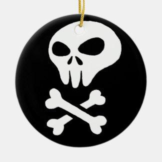 skull round ceramic decoration