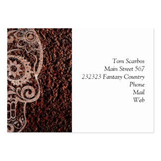 Skull,rusty metal 04 pack of chubby business cards
