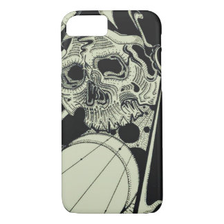Skull sacred Geometry iPhone 7 Case