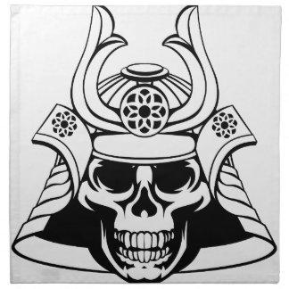 Skull Samurai Warrior Napkin