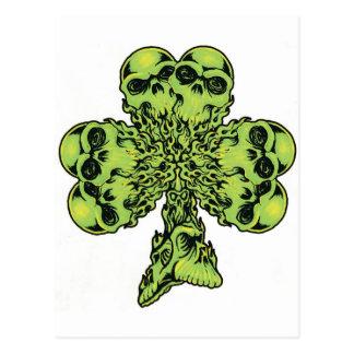 Skull Shamrock I Postcard