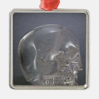 Skull Silver-Colored Square Decoration
