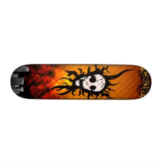 skull 20 cm skateboard deck