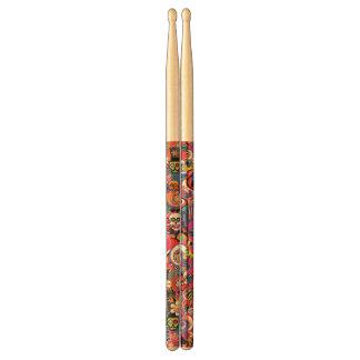 Skull Skeleton Printed Drumsticks, Drum Gift Drumsticks