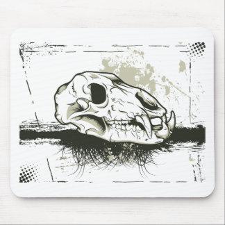 Skull ~ Skulls Animal Skeleton Mouse Pad