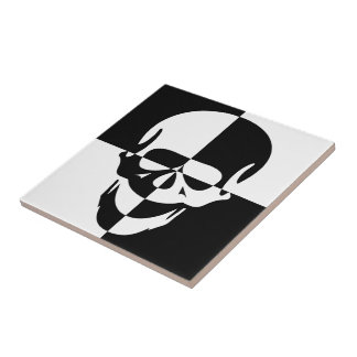 Skull Small Square Tile