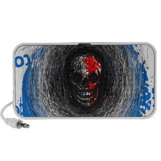 Skull Smile Scratch Blue Red Doodle Portable Speaker