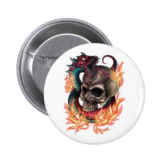 Skull + Snake Button