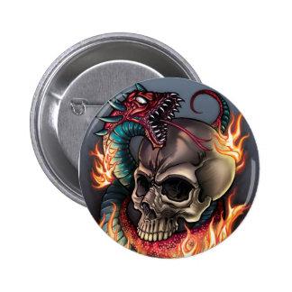 Skull + Snake Pins