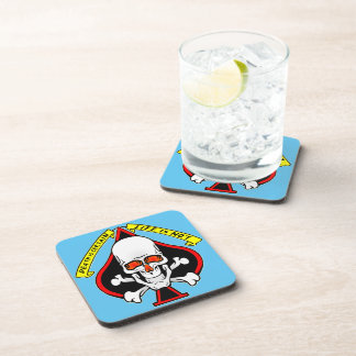 Skull Spade Death Is Certain Life Is Not Coaster