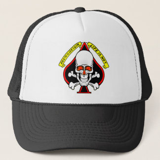 Skull Spade Death Is Certain Life Is Not Trucker Hat