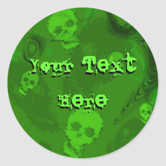 Skull Spectres 'Your Text' sticker