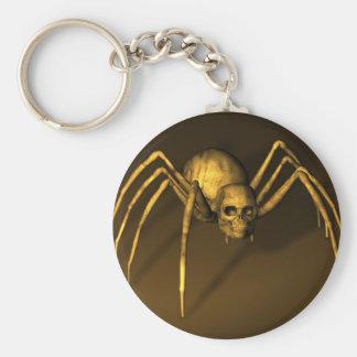 Skull Spider Basic Round Button Key Ring
