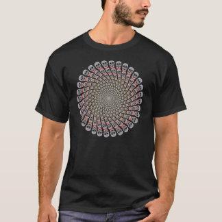 Skull Spiral: Custom T-Shirt: Black T-Shirt