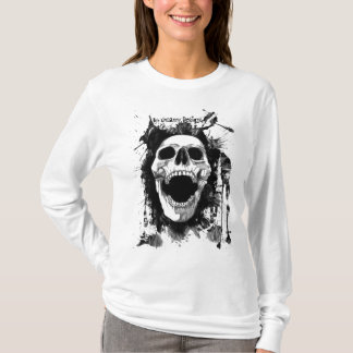 Skull Splatter Ladies AA Hoody Long Sleeve (Fitted