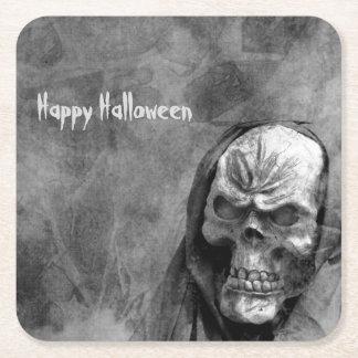 Skull Square Paper Coaster