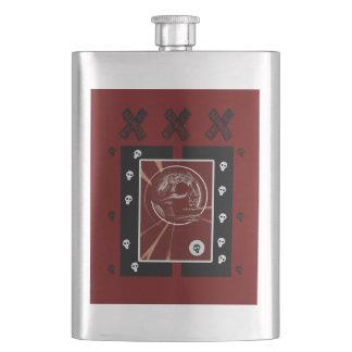 Skull Square Red/Black XXX Hip Flask