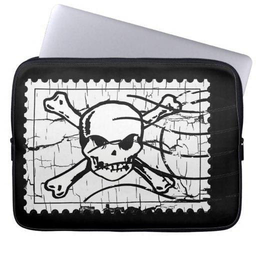 Skull Stamp 2 Laptop Sleeves